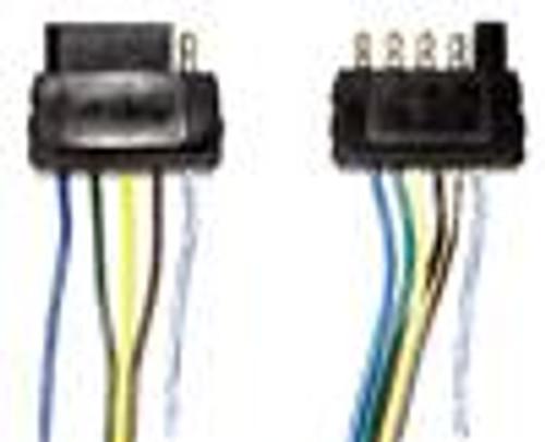 5 Pole Flat 25' Male Trailer Side Wiring Harness