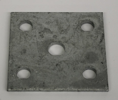 "Galvanized Tie Plate For 2"" Axle"