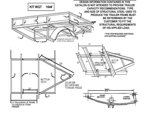 Build your own trailer kit utility trailer kit for single tandem single axle trailer building diagram solutioingenieria Choice Image