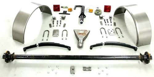 95'' 3500# Single Axle Trailer Parts Kit