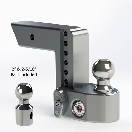 "Weigh Safe 2.5"" Adjustable Hitch with Max Drop at 6"""
