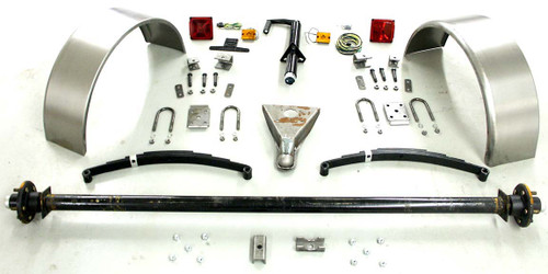 "95"" 6,000# Single Axle Trailer Parts Kit"