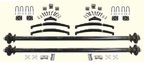 """95"""" Tandem Utility Trailer Undercarriage Kit- 6,000 Axles"""