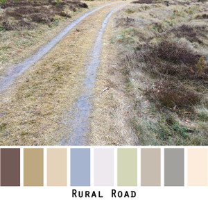 Rural Road - lavender gray stripes on straw colored grass colors for blue eyes, green eyes, brown eyes, blonde hair, brunette, redhead, gray hair - photo by Inese Iris Liepina, Wrapture by Inese