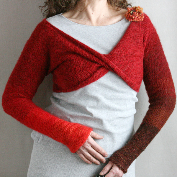 autumn rose shrug