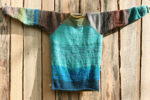 Tongariro Crossing Raglan Pullover Sweater L