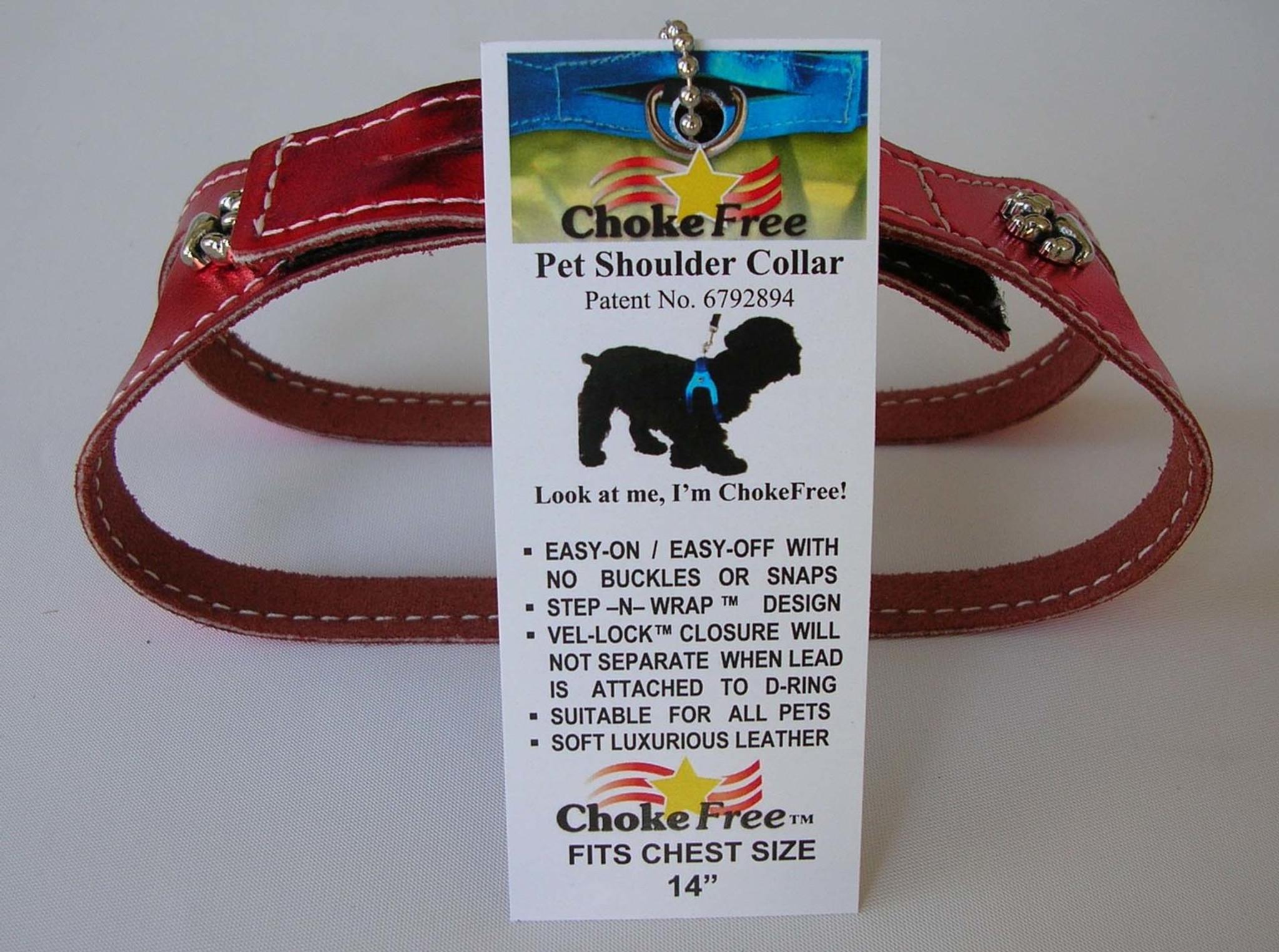 chokefree non metallic leather shoulder collars harness puttin