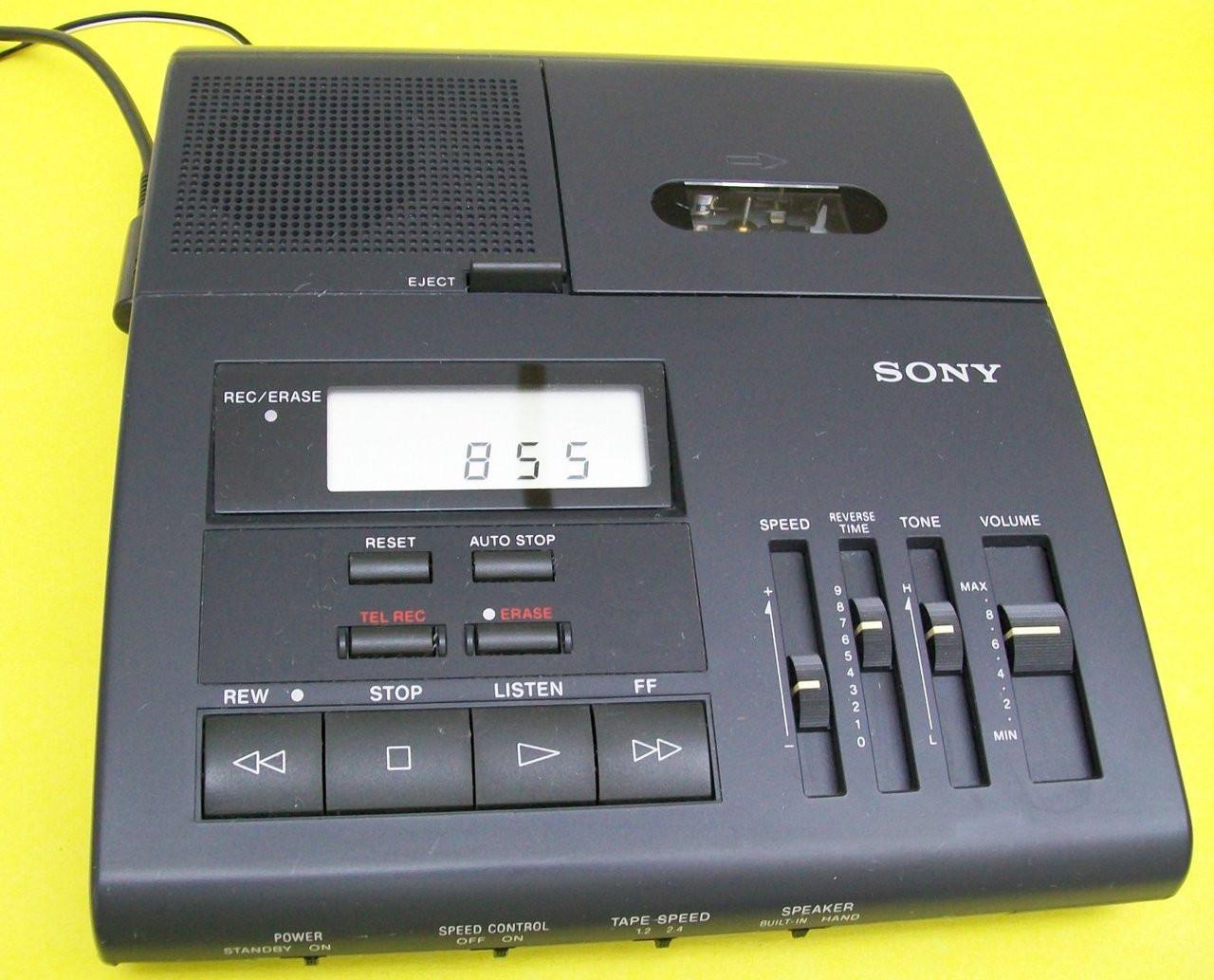 Sony Bm-850 Microcassette Transcription Transcriber Machine