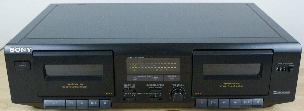 Sony Tc We471 Stereo Double Cassette Player Recorder