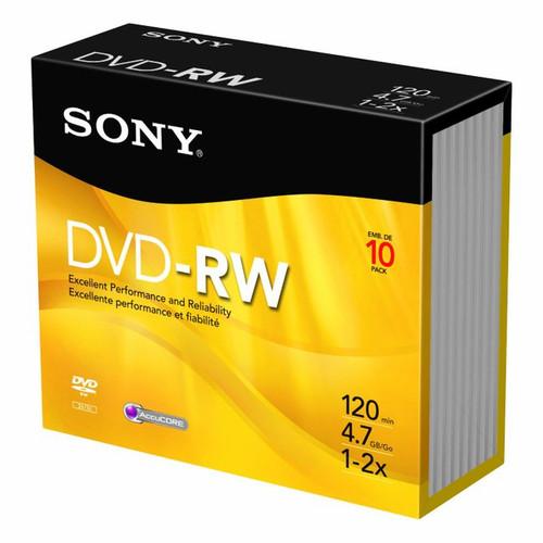 Sony 2X 4.7 GB DVD-RW Disc 3-Pack