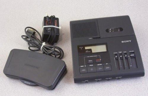 Sony Bm-840 Microcassette Transcription Transcriber Machine 2-speeds