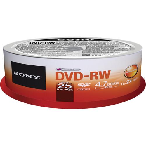 Sony 2X 4.7 GB DVD-RW Disc 25-Pack