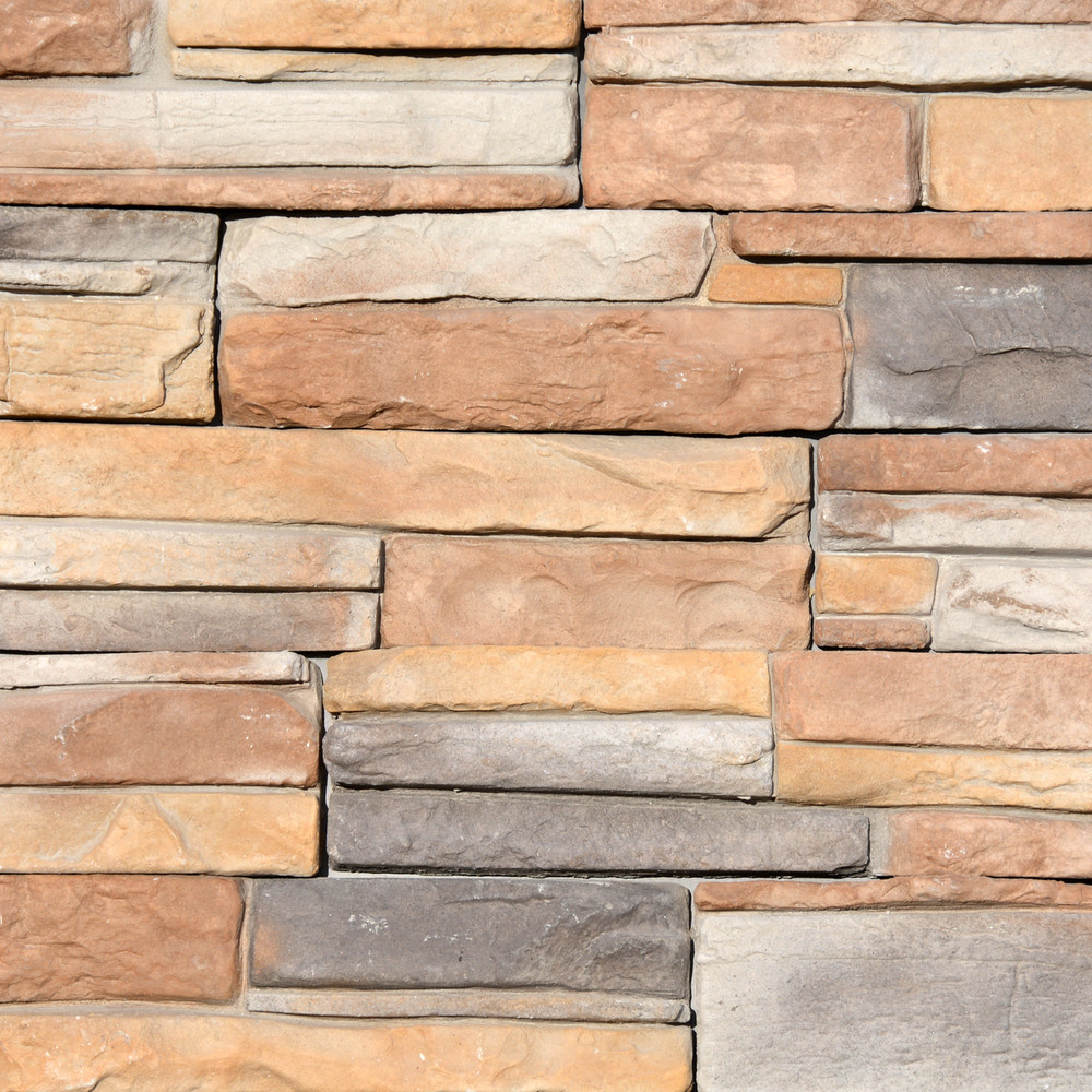 Photo of Alpine Quick Fit Stone Veneer Panel samples from Superior Stone MFG