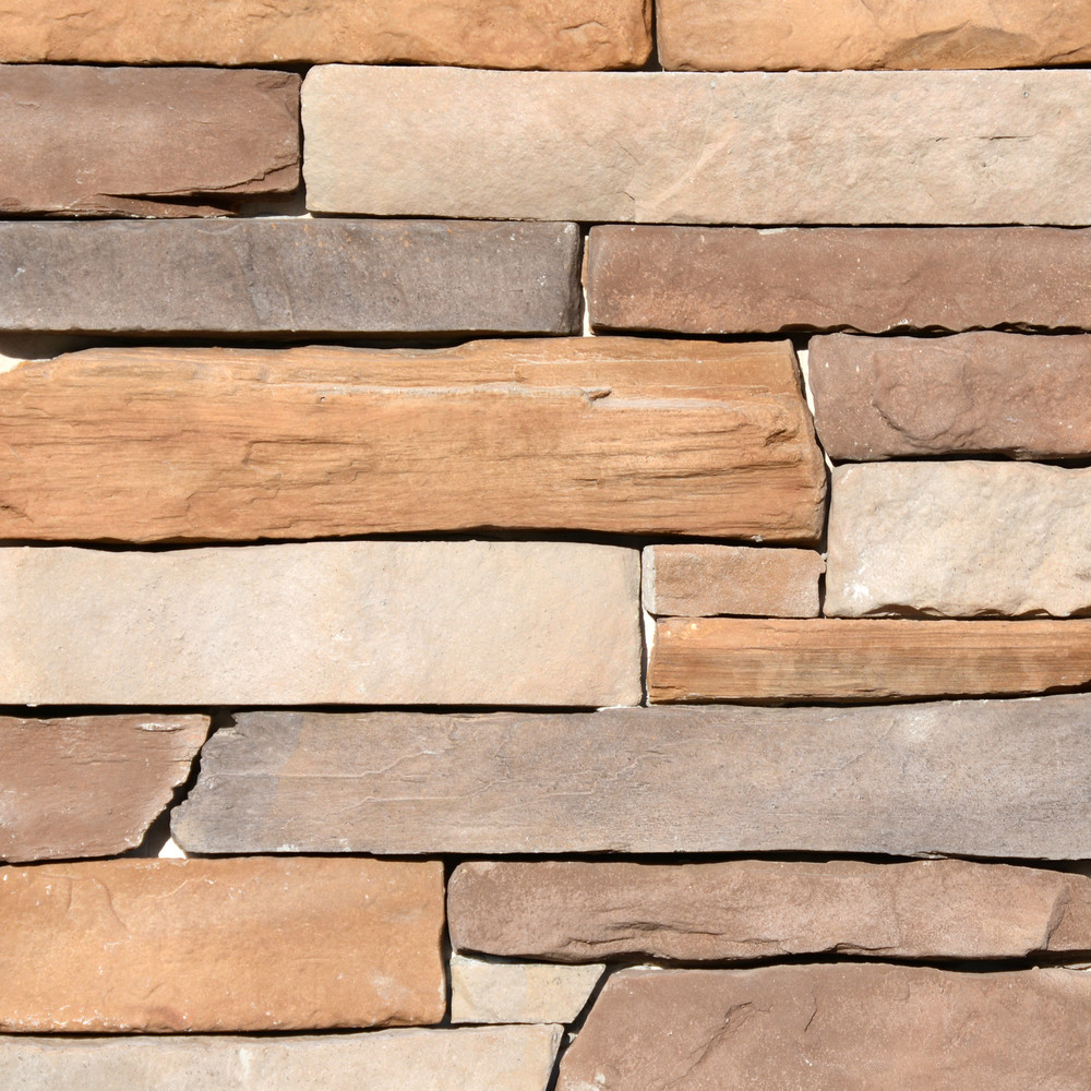 Picture of a Ledgestone Stone Veneer in the Alpine color palette by Superior Stone (Washington based).