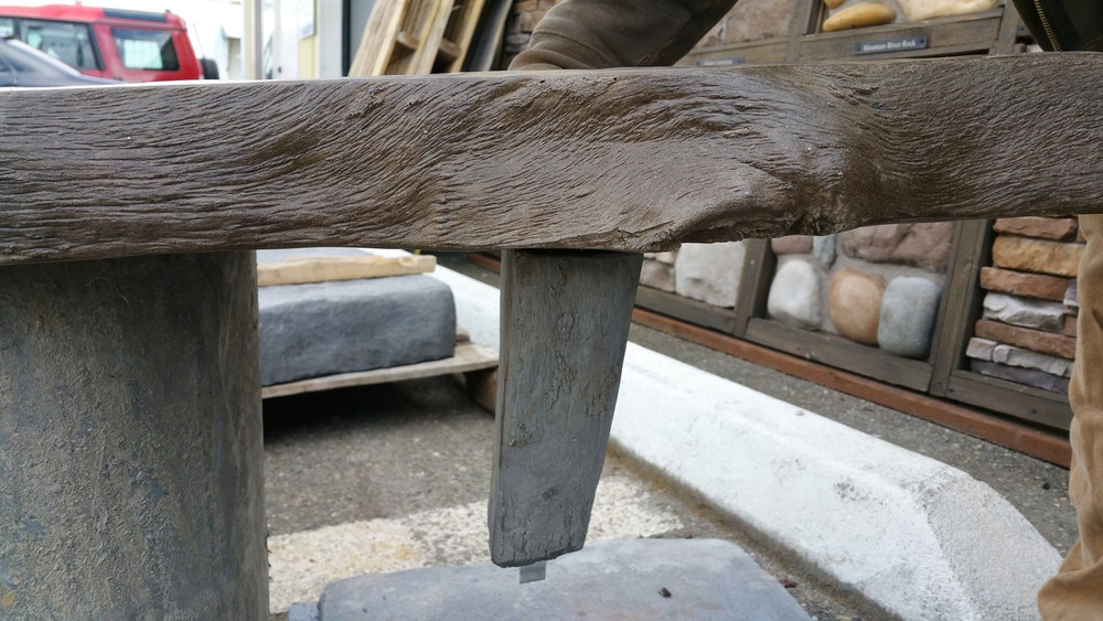 Corbel shown under our cement mantel