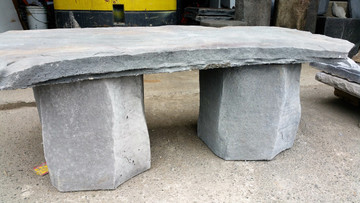 """This garden bench would make a great addition to any garden or patio area. It is made of lightweight concrete but looks like stone. The edges are incredible. 42""""w x 16"""" d x14"""" h."""