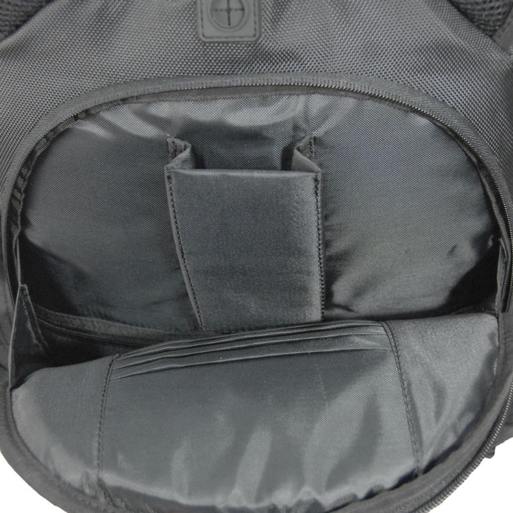 """""""Hidden"""" secure pocket on the back side"""
