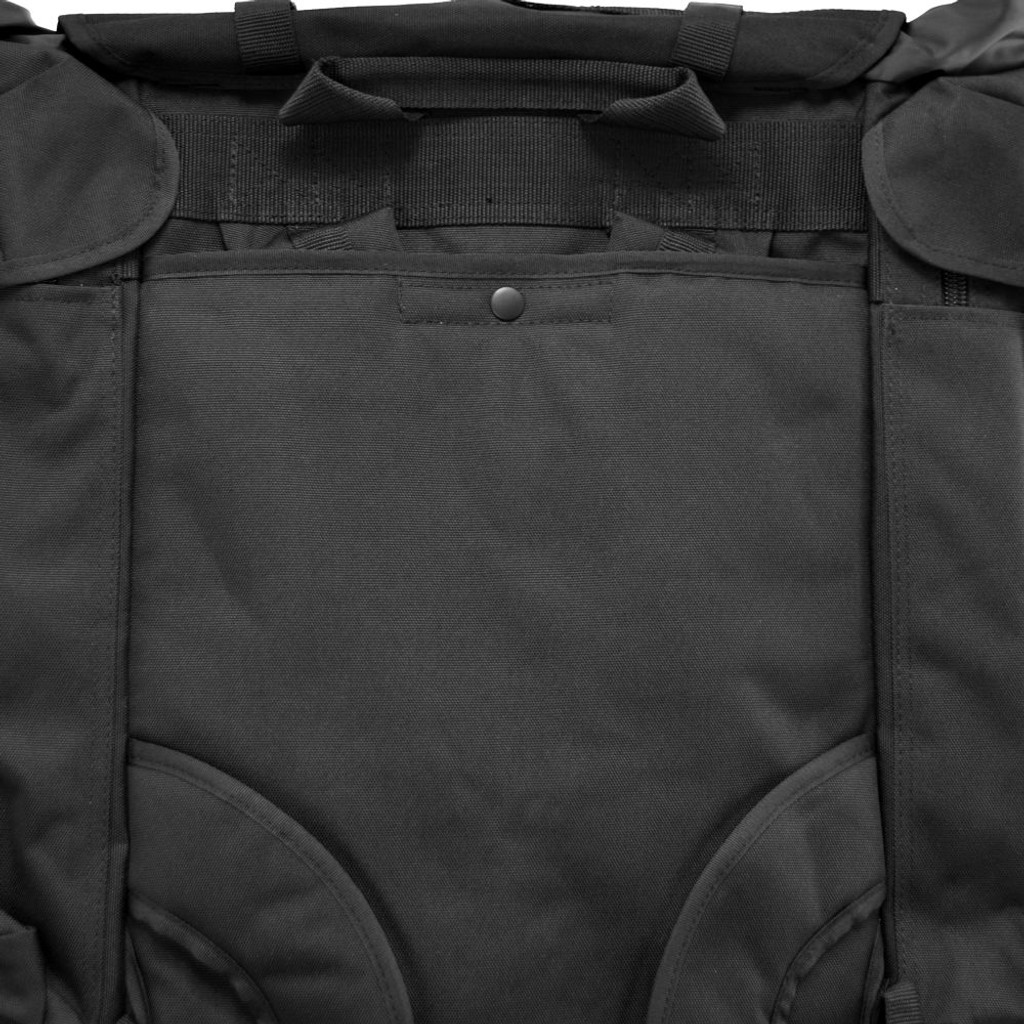 Stow-away pocket secures backpack straps