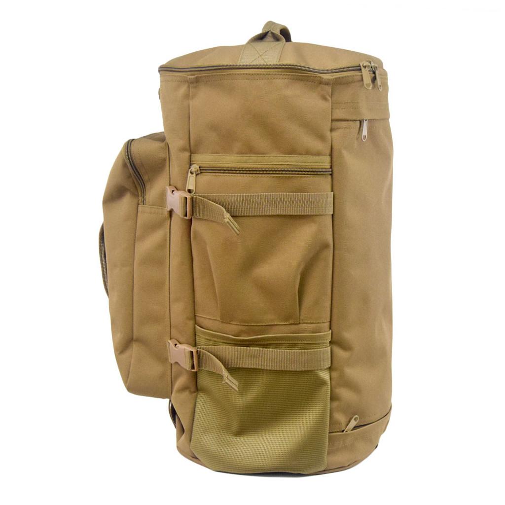 Side zippered pocket & mesh pocket perfect for water bottles