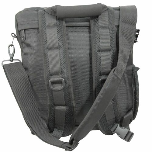 Carry as a backpack, over the shoulder, or cross body