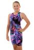 Girls Knee Length Ink One Piece Chlorine Resistant Swimsuit