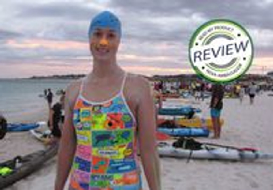 Great Marathon swim for one of our Ambassadors Rowena Burch