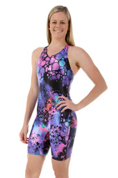 Ladies Knee Length Ink One Piece Chlorine Resistant Swimsuit