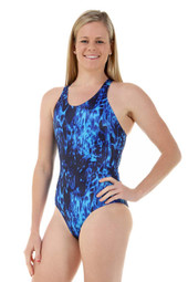 Ladies Sport Back Aquatic One Piece Chlorine Resistant Swimsuit