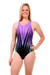 Ladies Sport Back one piece swimsuit - side view