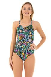 Ladies Adjustable Sportique Seaside One Piece Chlorine Resistant Swimsuit