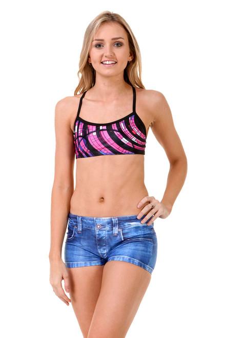 Ladies swim shorts jeans - side view