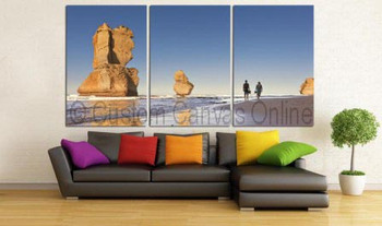 3 piece queensland great barrier reef photos on canvas wall art print