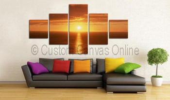 sunset beach painting on canvas art prints