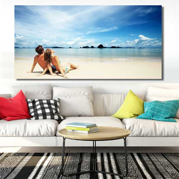 Panoramic Canvas Prints Come with framed and get ready to hang