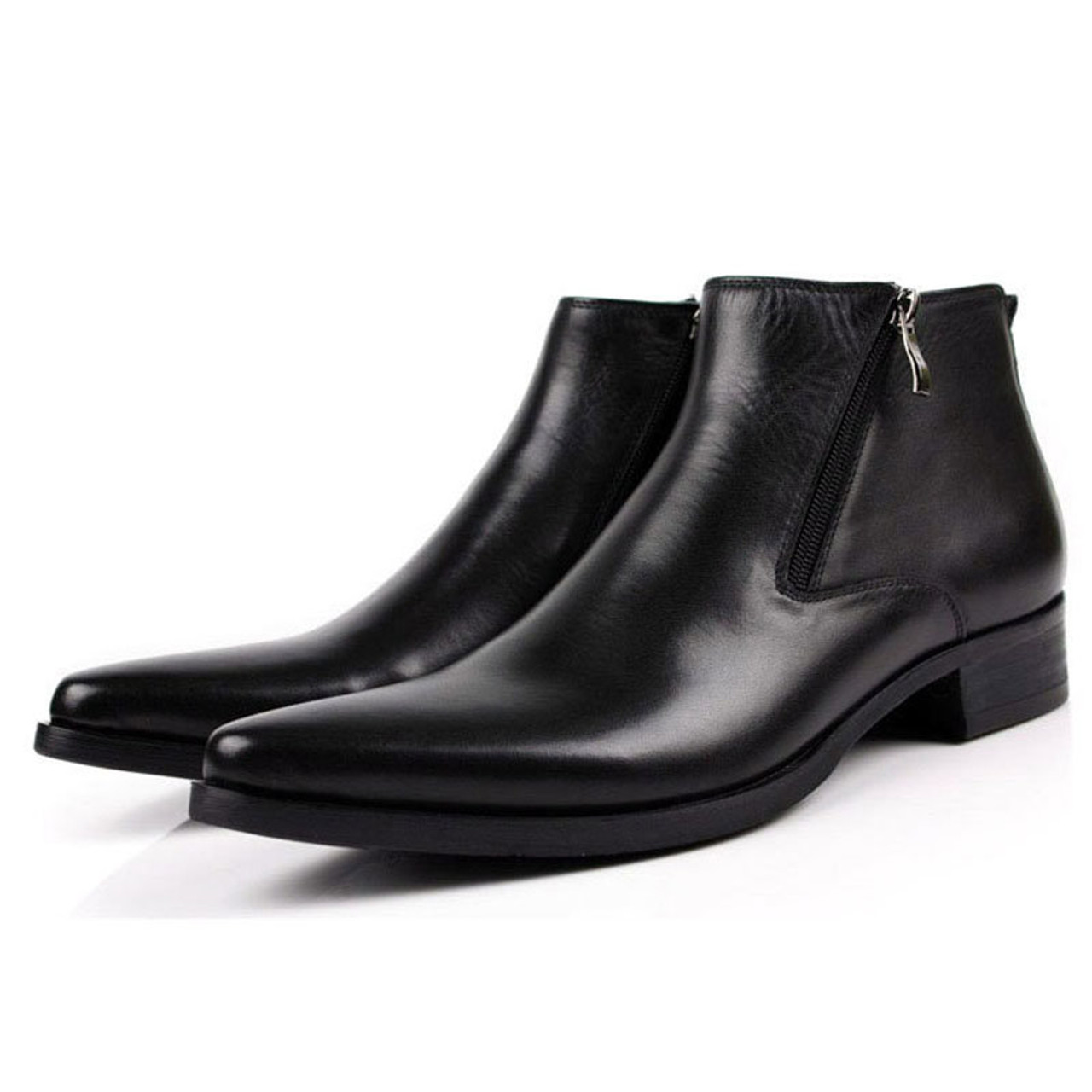 Pointed Toe Mens Dress Boots Sale | Black Pointed Toe Mens ...