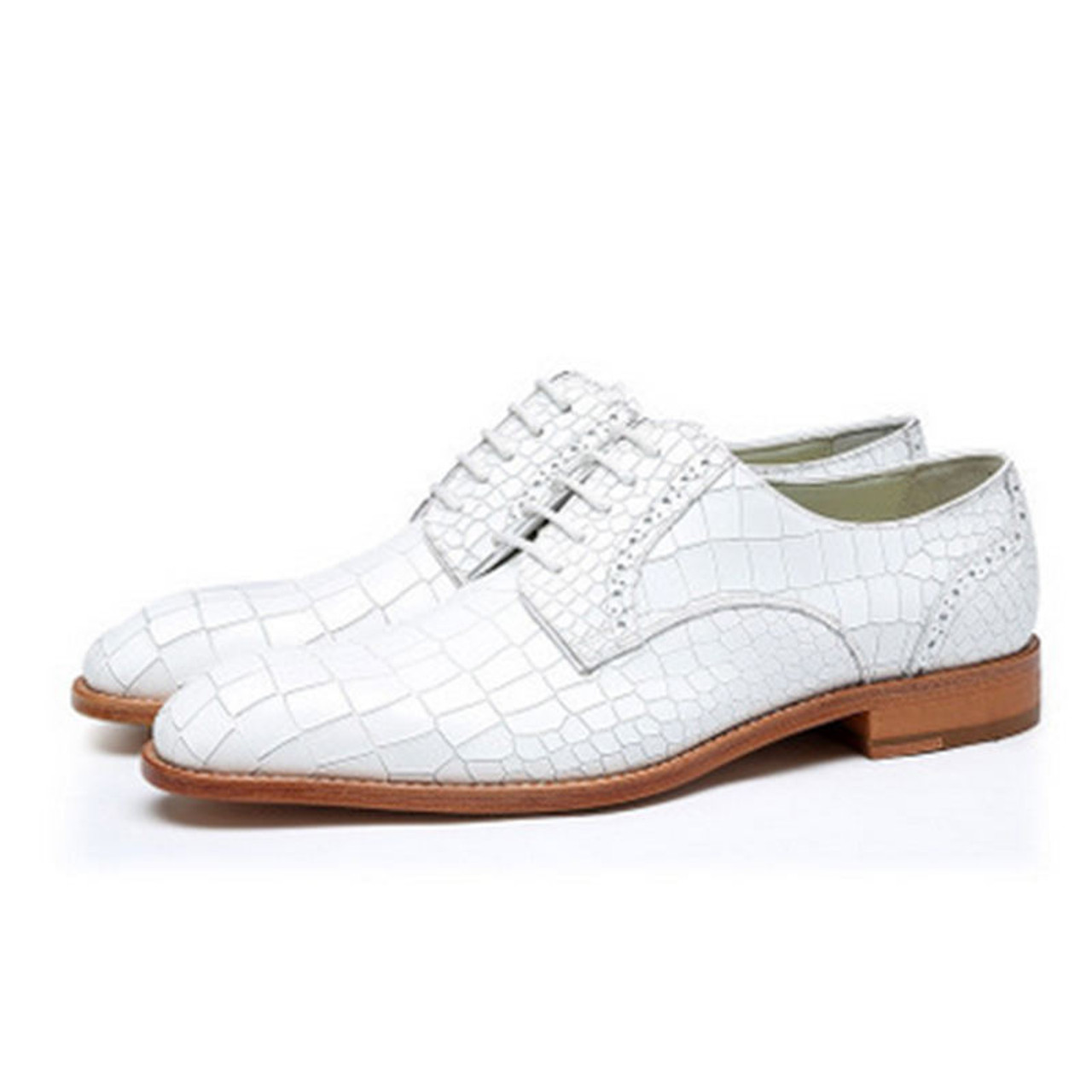 Black And White Crocodile Shoes