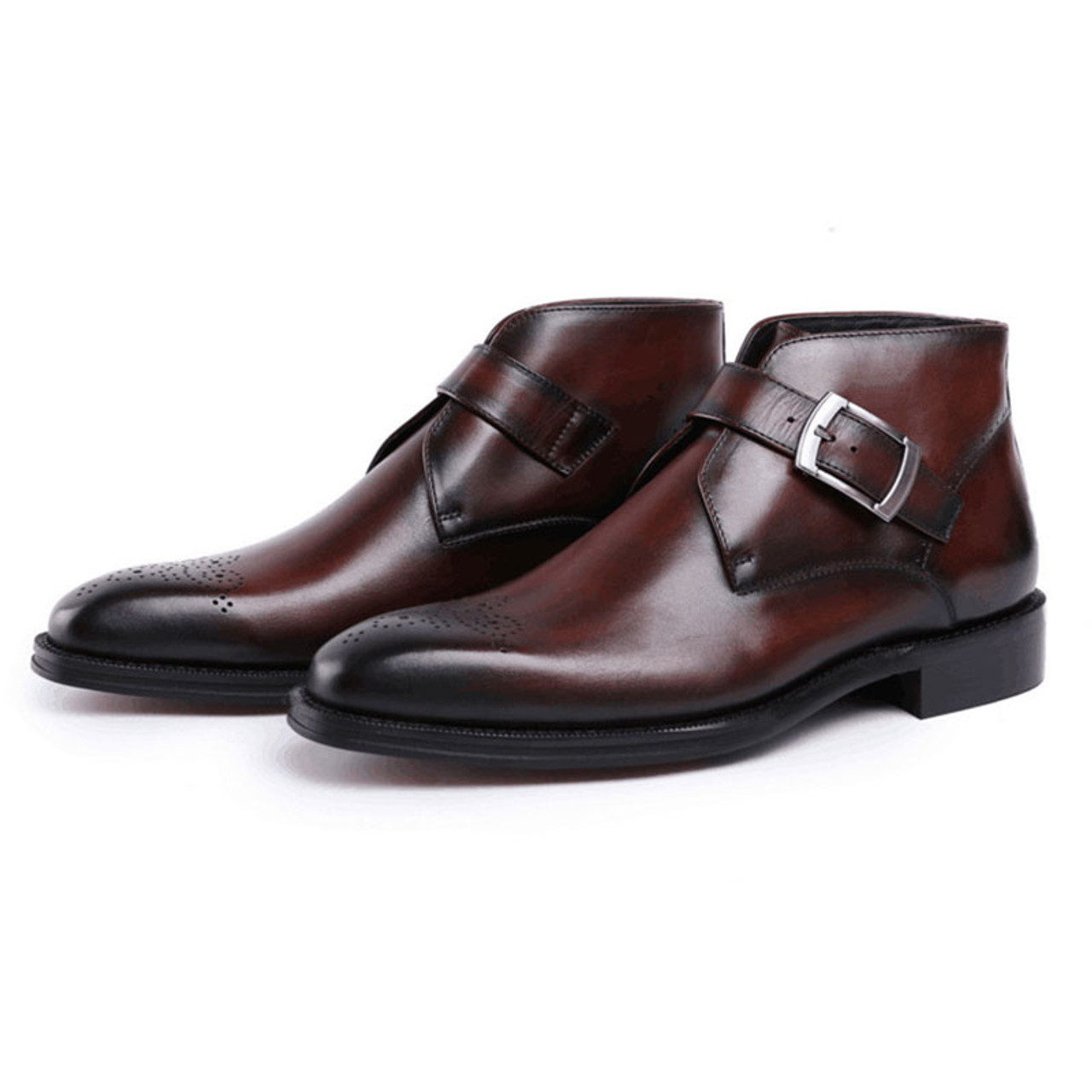 mens fashion leather dress ankle boots for jeans grimentin
