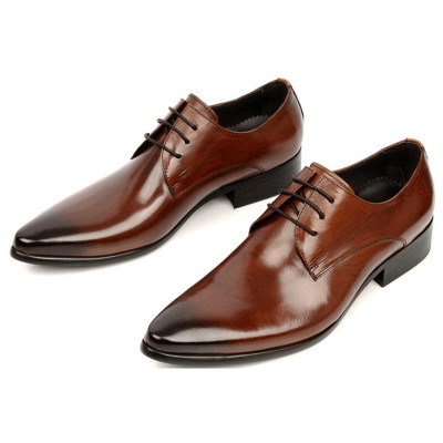 Lace up men dress shoes