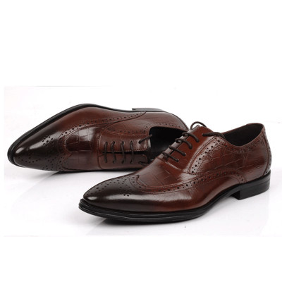Men oxford shoes brown