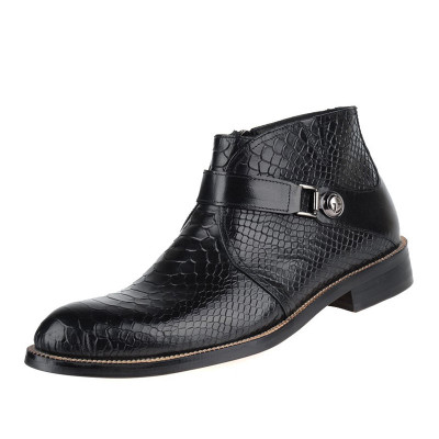 Mens ankle boots black leather