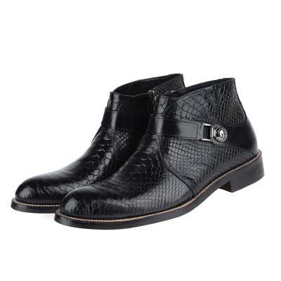 Men's ankle boots with zipper