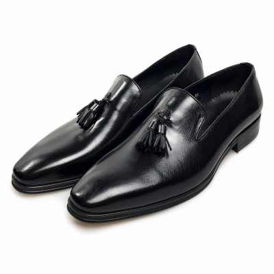 mens tassel dress shoes high quality  leather shoes mens