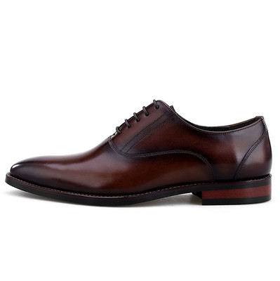 Leather dress shoes for men