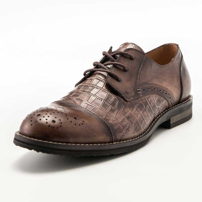 mens italian fashion leather derby dress shoes grimentin