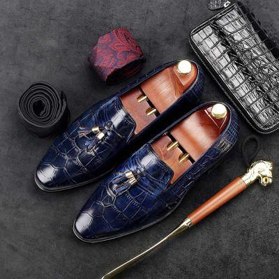 Blue wedding shoes tassel