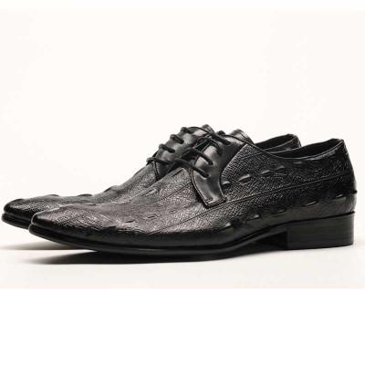 Mens lace up shoes black