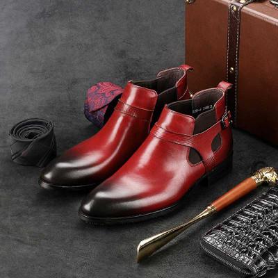 Nice burgundy chelsea boots mens