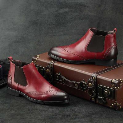 Mens vintage boots burundy
