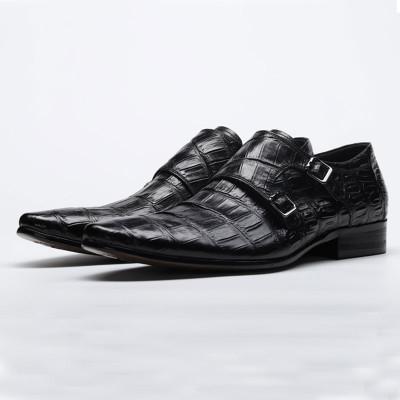 Double monk strap shoes black