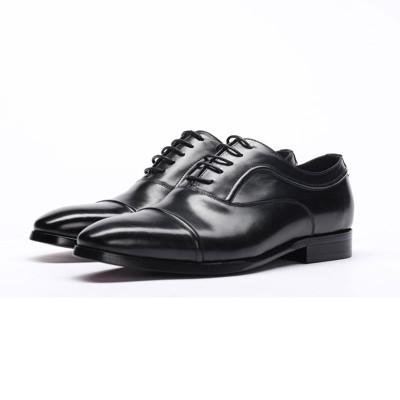 Cap toe dress shoes black